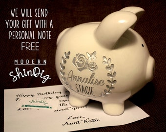 Custom Piggy Bank Etsy