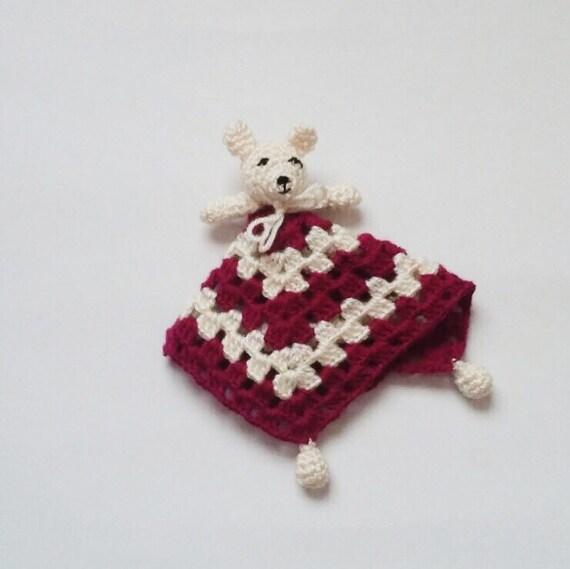 Amigurumi Baby Blanket : Amigurumi Bear Baby Security Blanket Snuggle Bear by knitmint