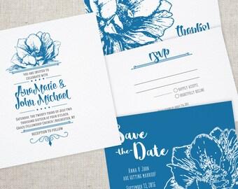 Printable Wedding Set - Amore - Wedding Invitation Kit - Wedding Stationery Download - UM Collection