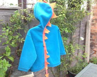 OOAK upcycled blue fleece 4-5 years