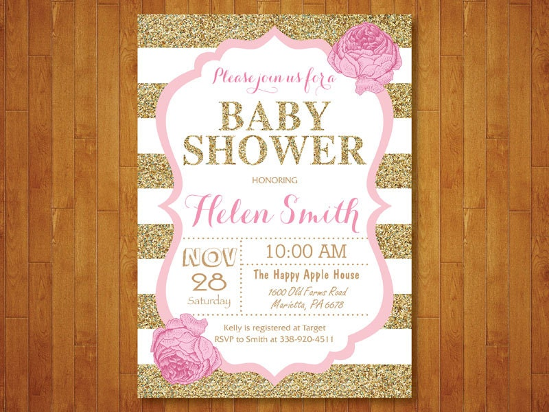 modern baby shower | etsy, Baby shower invitations