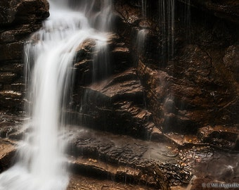 Avalanche Falls in the Flume Gorge in Lincoln New Hampshire