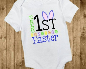 monogrammed baby boy easter outfit