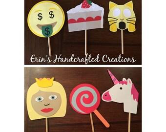 Custom handmade Emoji photo booth prop package, number two