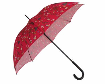 Umbrella of city opening auto-Rose / Red - purple river - Made in France