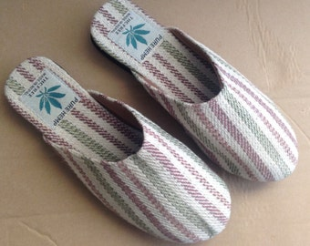 Colorful Pure Hemp THC Free Bohemain Slippers