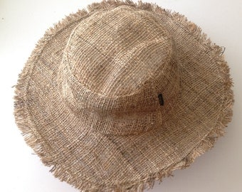 Eco friendly Pure Hemp Safari Sun Hat