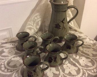 7 Piece Glenshee Pottery Coffee Set