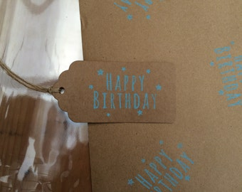 Happy Birthday Gift Wrapping set