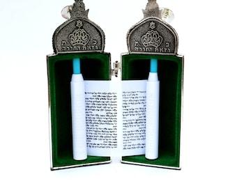 Torah Scroll Silver Plated Jerusalem City Jewish Judaica Gift Holyland Israel