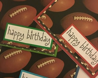 Happy Birthday Football Birthday Card- Handmade