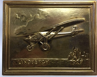 Charles Lindbergh / Spirit of St. Louis Relief Wall Decoration