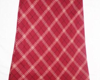 Vintage Laura Ashley Wool Tartan Plaid Maxi Skirt  Size M - L