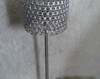 Lamp made of pull tabs