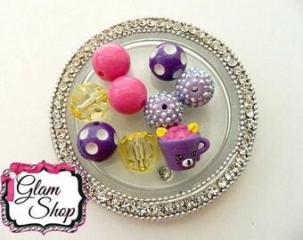 Shopkins Season 4 HOT CHOC *Rare Petkins* Bracelet Kits DIY Bracelet Kit - Birthday Party Favors Shopkins Beads Craft