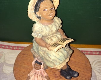 """Vintage Enesco Miss Martha's Collection - Hallie """"Sing Praises to the Lord"""""""