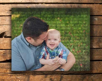 Father's Day Gift - Poem or Song Photo (Digital Print)