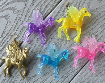 Crystal Pegasus Earrings
