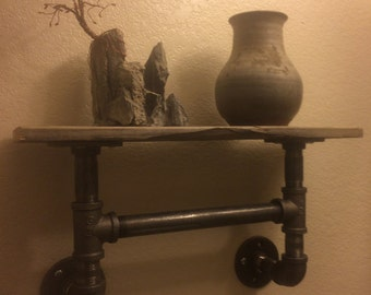 Rustic Hand Towel Holder