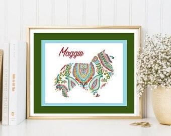 Shetland Sheepdog Art