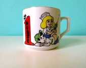 Number One Nurse Gold Rimmed Coffee Mug // Shot in the Butt