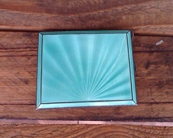 Fabulous Art Deco cigarette case made in England , Henry Cliffird Davis ...Vintage glamour and glitz !!