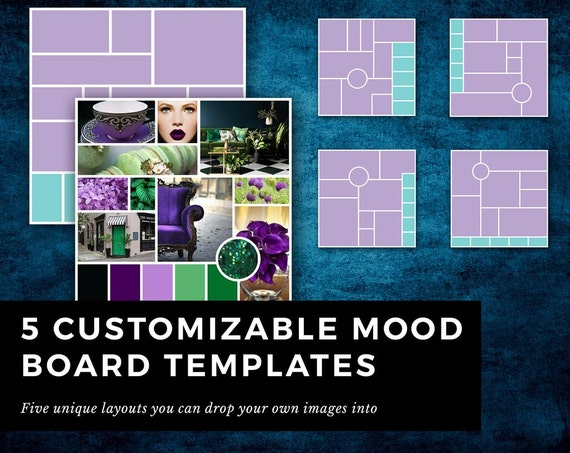 5 indesign templates for mood board    inspiration board for