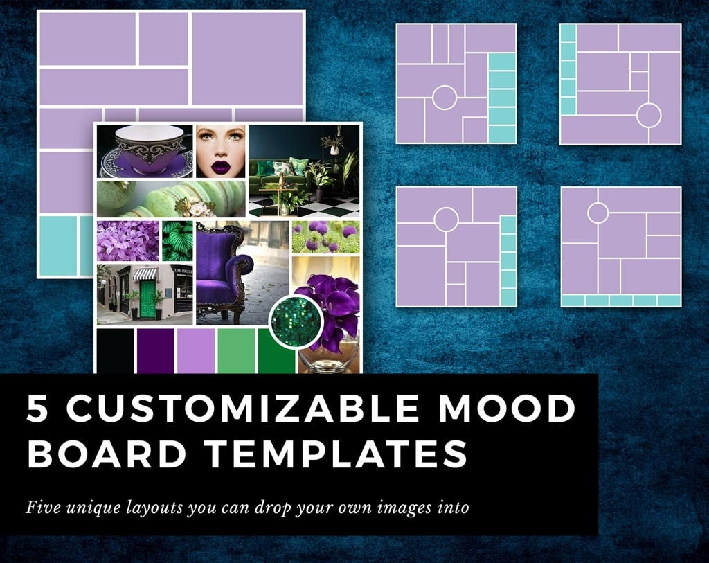 fashion mood board template - 5 indesign templates for mood board inspiration board for