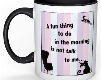 pastel angry grumpy morning coffee mug