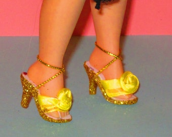 Cissette YELLOW ROSES shoes for Cissette by Madame Alexander, Tonner Tiny Kitty, Miss Revlon 10 inch