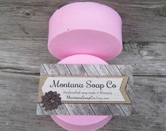 Plumeria goats milk soap moisturizing whipped soap