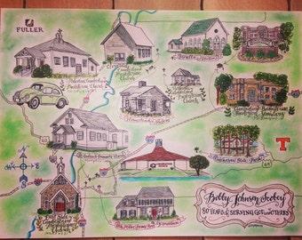 CUSTOM Life Map, Full Color, Hand-Drawn