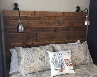 Staggered Rustic Headboard, custom headboard, furniture, handmade, farmhouse furniture