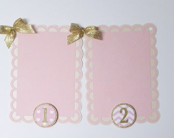 Pink and Gold Photo Banner, Pink and Gold Monthly Banner, First Year Photo Banner, Monthly Photo Banner, Pink and Gold, First Birthday