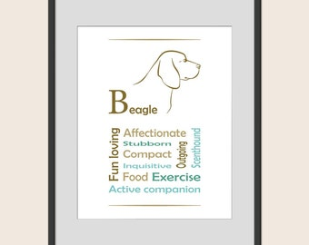 Beagle wall art etsy for Minimalist art characteristics