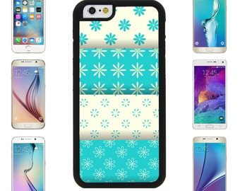 Blue White Floral Winter Cover Case for Samsung Galaxy S7 Edge S6 Plus Apple iPhone 7 7 Plus 6 6S Plus Note 5 6 7 8 9 10 att sprint verizon