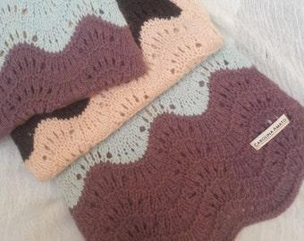 Handmade Christine Amato wool and angora scarf