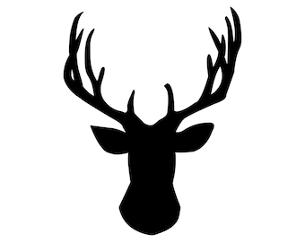 Deer Head Vinyl Decal Hunting and Outdoors 0007