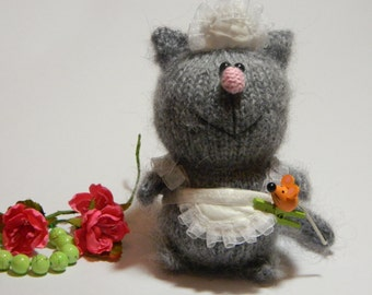 Cat, governess, handmade, stuffed animals, а perfect gift