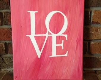 """LOVE Canvas (11""""x14"""")"""