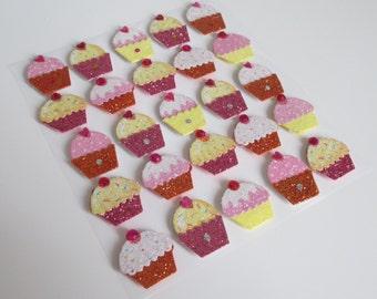 3D Cupcake Stickers