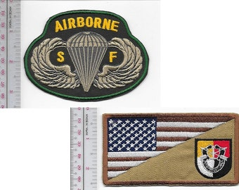 Green Beret US Army 3rd Special Forces Group Airborne & SF Parachutist Wings