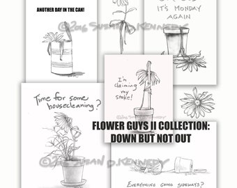 Lot of Susan's Printable Greeting and Note Cards for Discouraged Peeps, plus clip art