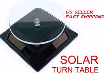 Jewelry Display Solar Rotating Display Stand Turn Table  Black , White , Silver US Seller with Fast Shipping