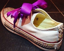 Personalized Converse / wedding converse / bridal converse / prom converse / coloured converse / bling / bespoke shoes / customised converse
