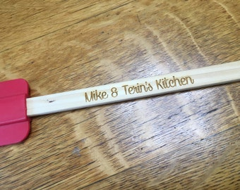Custom engraved wooden spatula