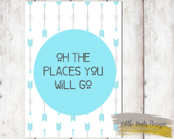 It's just a graphic of Impeccable Oh the Places You'll Go Arrows Printable