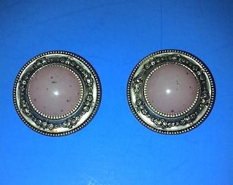 Vintage Pink clip on earrings