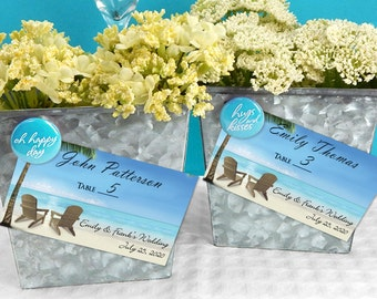 Relax in the Sand Personalized Placecards - Set of 24
