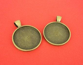 2 piece bronze frame - round, 25mm